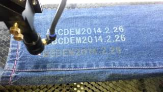 High-speed Laser Cutting Machine - Jeans Cutting - 1080P