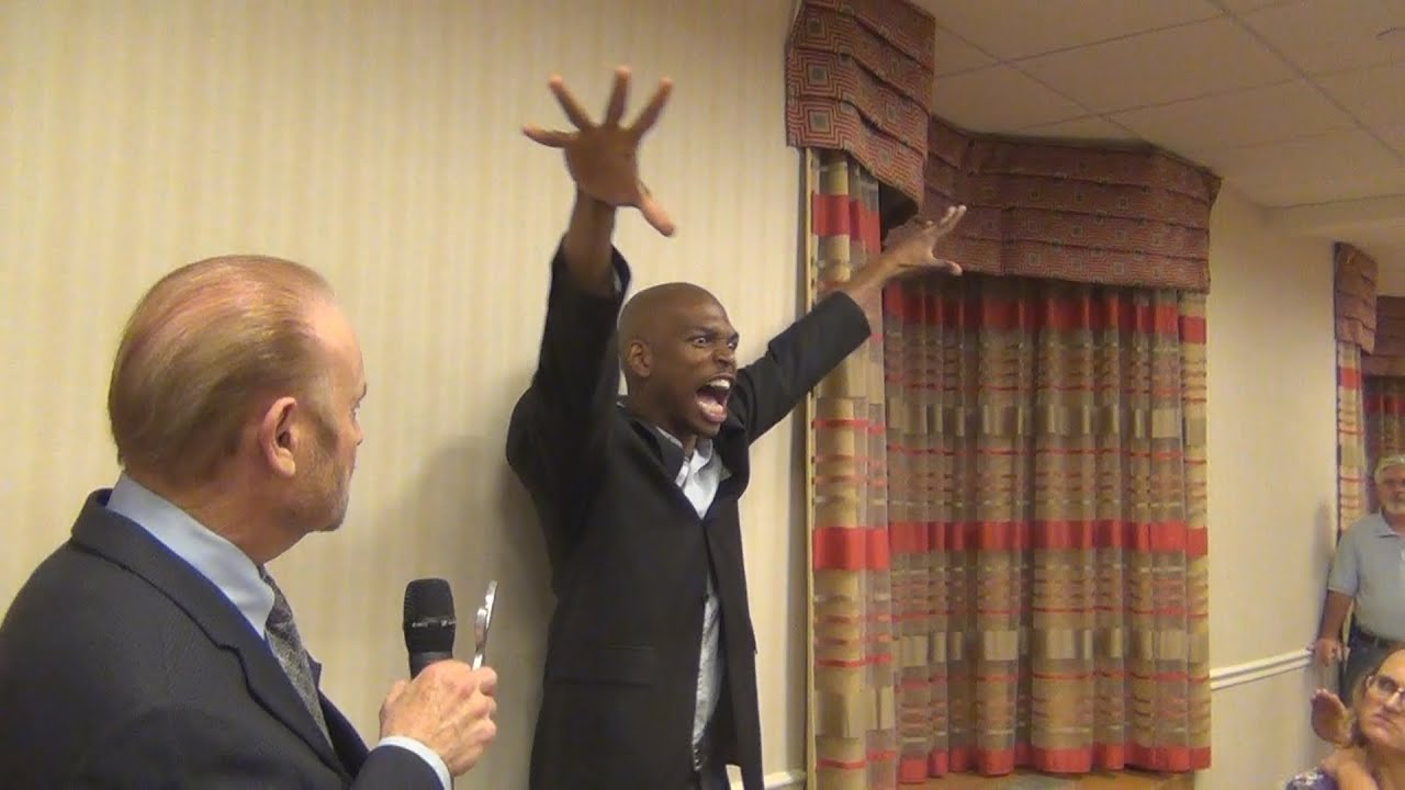A Voodoo demon tries to curse Bob and the audience as it violently disrupts Bob's seminar.