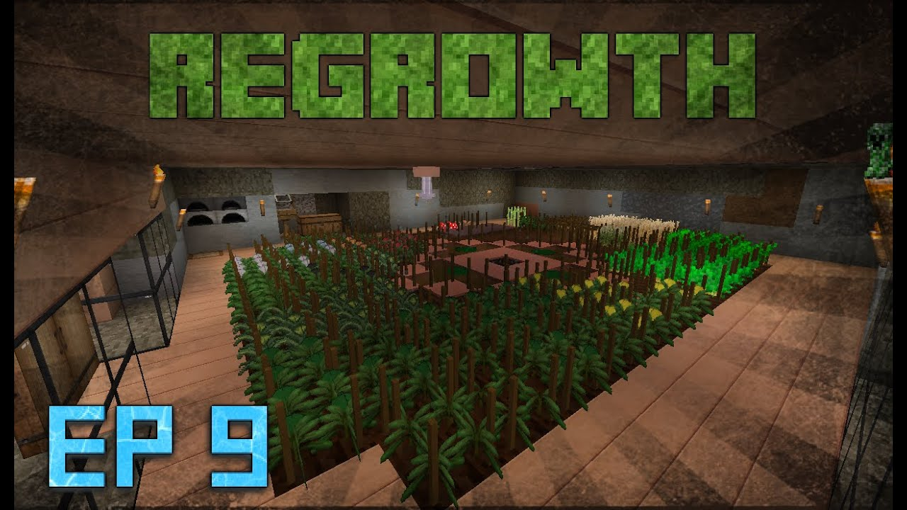 Minecraft Modded Survival world: Regrowth: EP 9: crucible