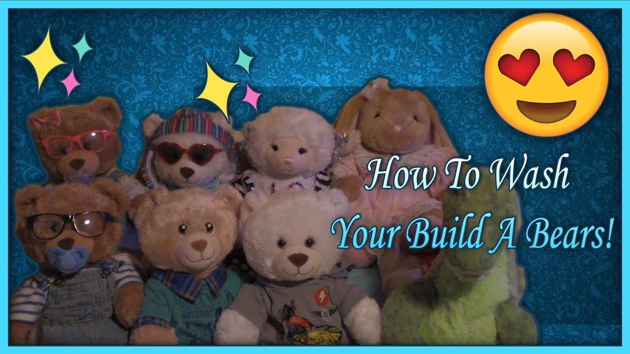 How I Wash My Build A Bearsbuild A Bear Adventures Youtube