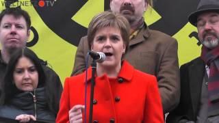 Stop Trident Demo London 2016 - Jeremy Corbyn, Nicola Sturgeon, Leanne Wood, Vanessa Redgrave