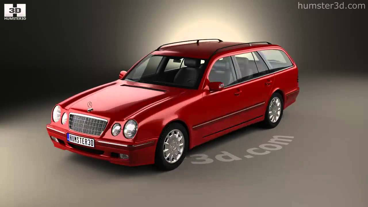 mercedes benz e class wagon 1999 by 3d model store. Black Bedroom Furniture Sets. Home Design Ideas