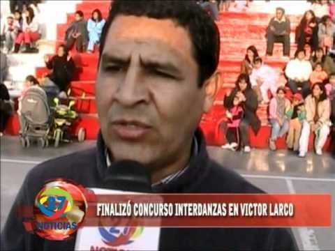 Clausura del concurso de danzas interinstitucional en el distrito, Víctor Larco