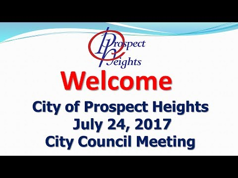 July 24, 2017 City Council Meeting