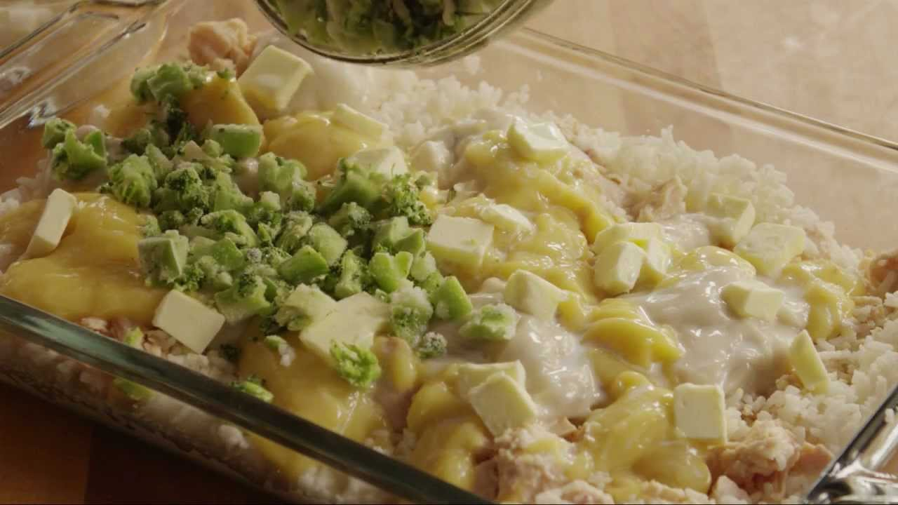 How To Make Broccoli, Rice, Cheese, And Chicken Casserole -9097