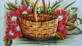 Como pintar cesta