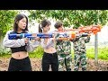 Nerf War: Comando Force ⚡ Warrior X-Men Nerf Guns Fight Shooter Group Rescue for Teammate Nerf Movie