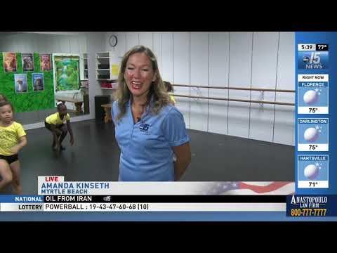 Amanda Live at summer dance camps at Coastal Dance Centre