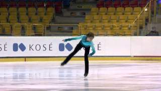 2015 ISU Jr. Grand Prix - Torun Men Free Skate Roman SADOVSKY CAN