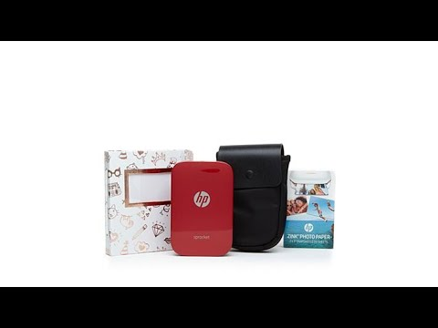 hp sprocket portable photo printer paper case album youtube