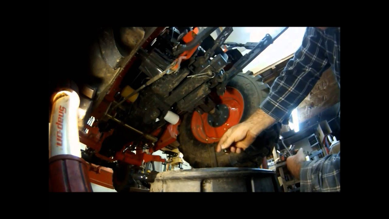 how to change the hydraulic fluid differential fluid filters on your kubota 2920 tractor part2 [ 1280 x 720 Pixel ]