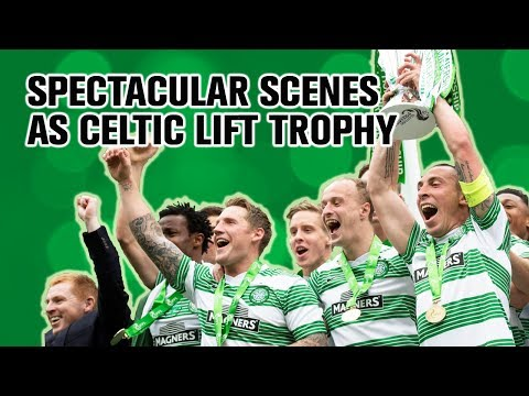 Celtic Premiership champions trophy presentation 2014
