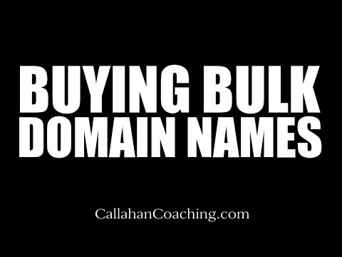 Entrepreneur Startup: Buying Bulk Domain Names