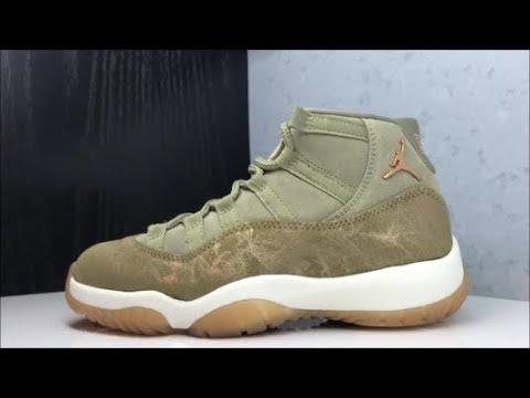 0d1e6c73c5c94d Air Jordan 11 Olive Utility W Retro Sneaker Honest Review - YouTube