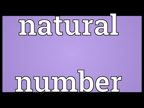 Natural number Meaning