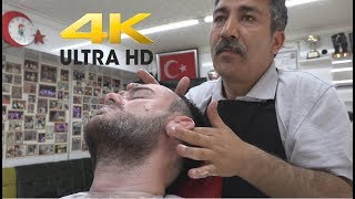 ASMR Turkish Barber Hair Wash,Head,Neck,Ear,Back,Hard Arm Massage 4k