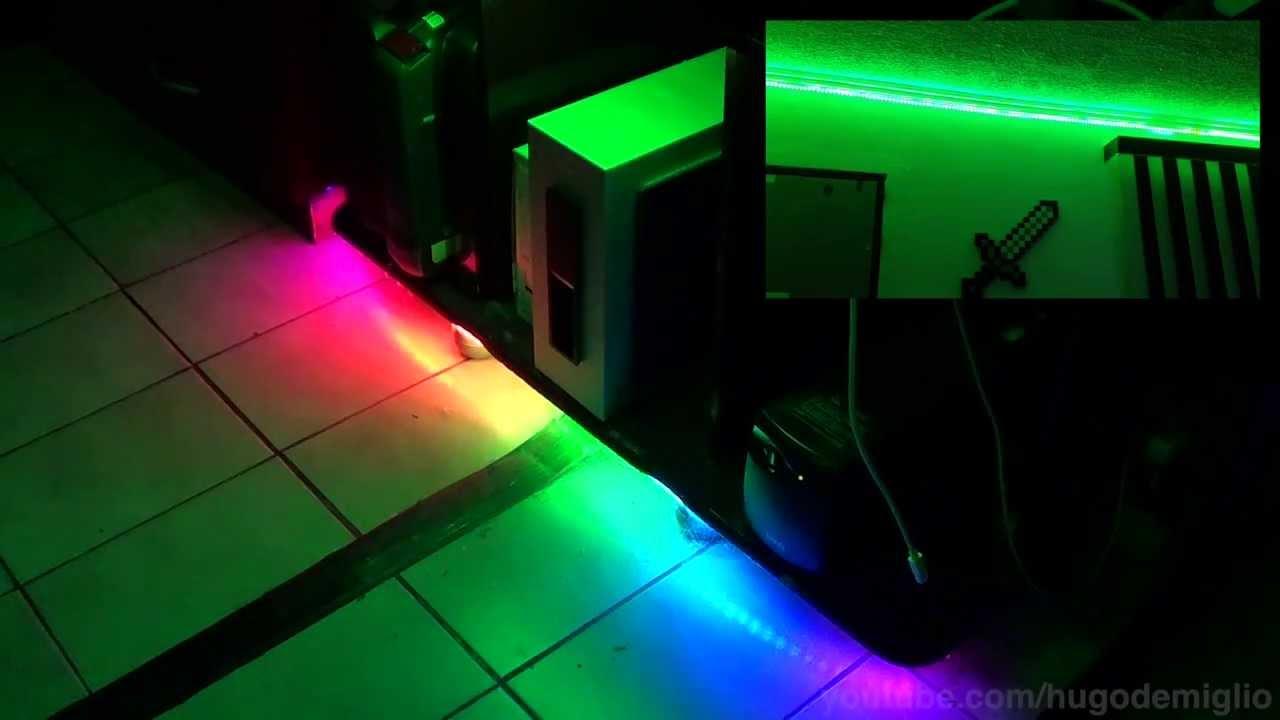 Fitas De LED RGB Controle Por Msica Efeitos E Gaveta