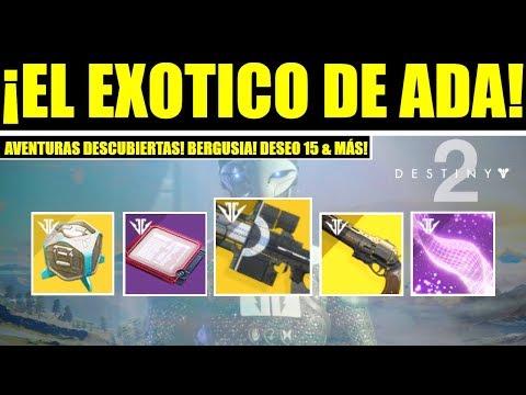 Destiny 2 - Exótico de Ada & Aventura! Nuevos Pasos! Bergusia! Izanagi! Ultima Palabra & Deseo 15! thumbnail