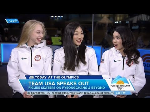 US Figure Skating Ladies Today Show Olympic Interview | LIVE 2-23-18