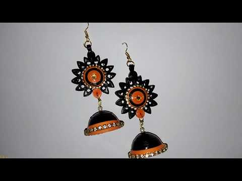 DIY Beautiful Gorgeous Paper Quilling Jhumka Earring.