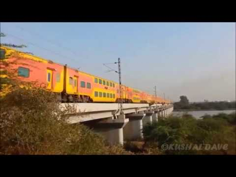 7 in 1.COMPILATION of Train Crossing Purna River