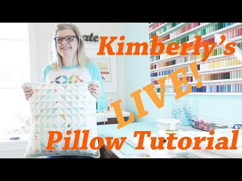 Behind the Seams: Kimberly's Home Studio and Pillow Tutorial | Fat Quarter Shop