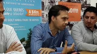 Sebastián Boldrini habla del circuito internacional de golf.