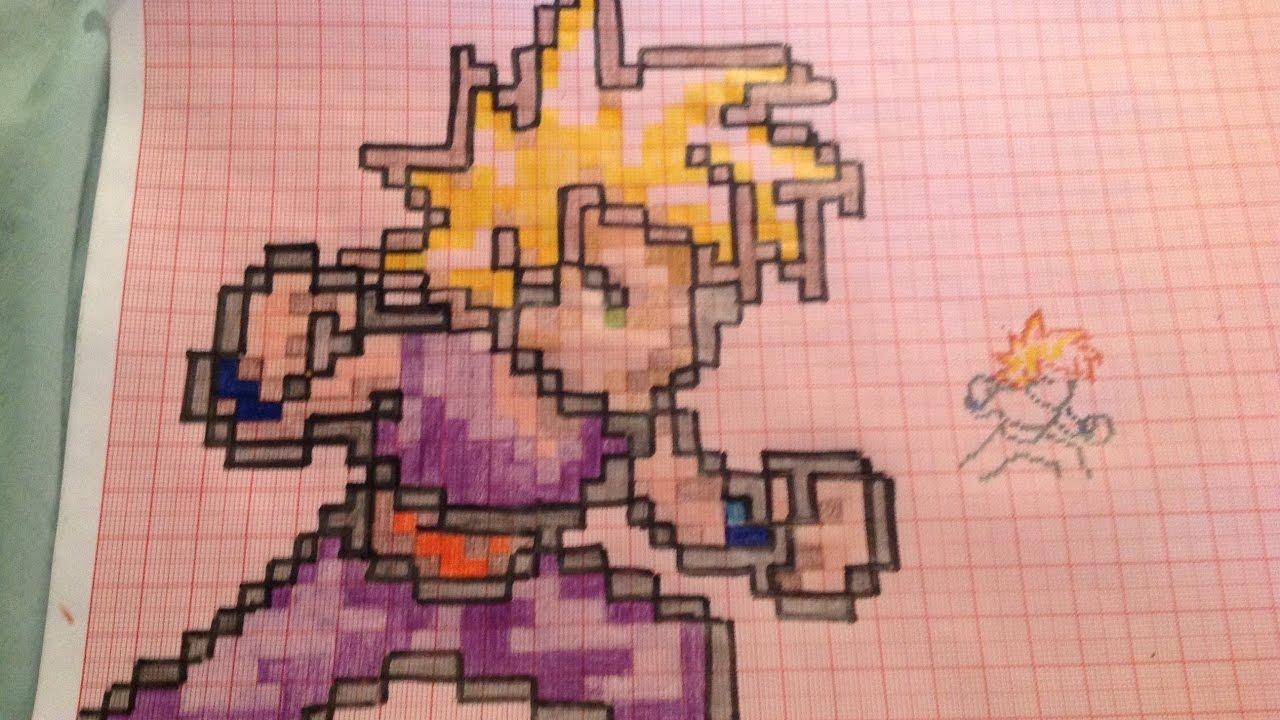 Gohan Ssj2 Pixel Art Ya Hecho Youtube