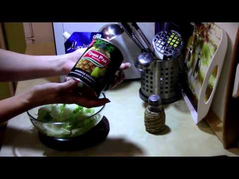 Быстрый ужин 3 /Салат с курицей и ананасами