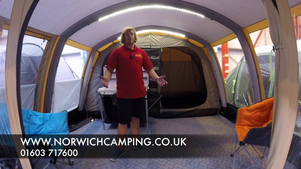 Kampa Hayling 6 Classic Air Tent 2017 - YouTube