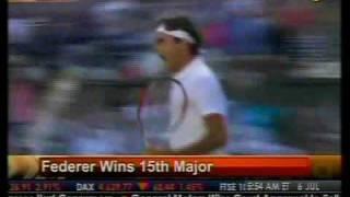 Federer Wins 15th Major - Bloomberg