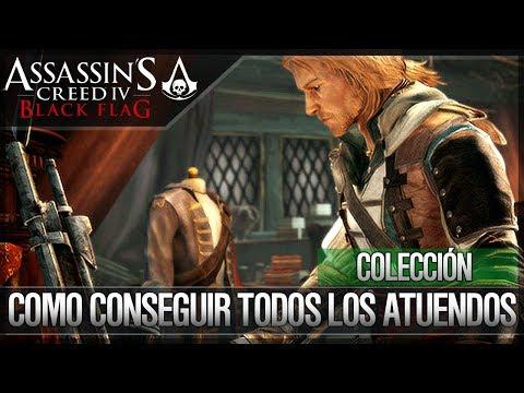 Assassin's Creed 4 Black Flag | Todos los Atuendos | Trajes Desbloqueables | Cómo conseguirlos