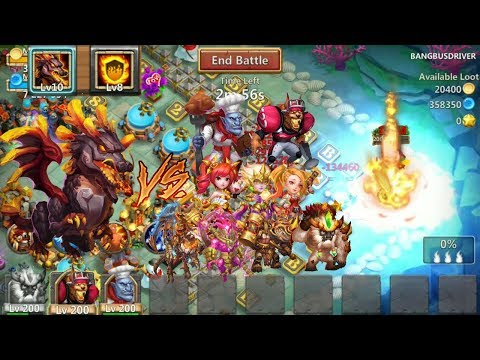 Flame Guard Lavanica VS Top 10 Heroes L Castle Clash