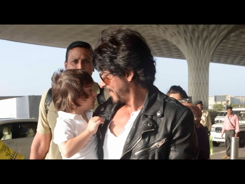 Shah Rukh Khan's son AbRam crash live interview in the cutest style!