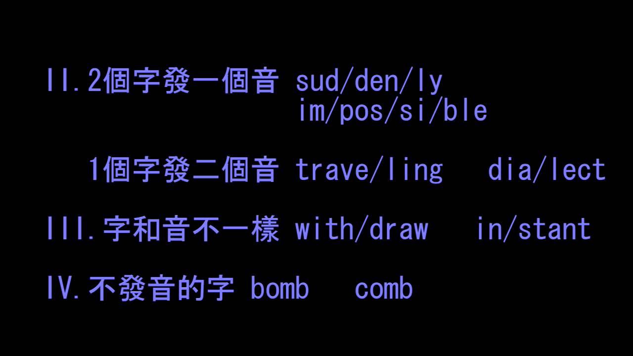 英文拆字唸出來的方法(下) - YouTube