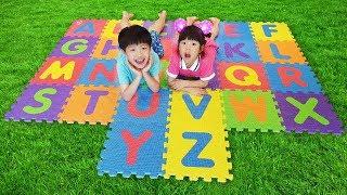 키즈카페 미끄럼틀 놀이터 핸드폰 놀이 color slide playground for kids & children ABC 알파벳송 Playground Song   로미유스토리