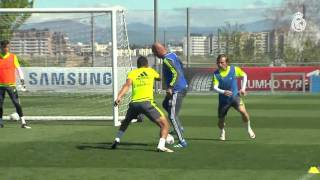 ucl   manchester city vs real madrid first training session