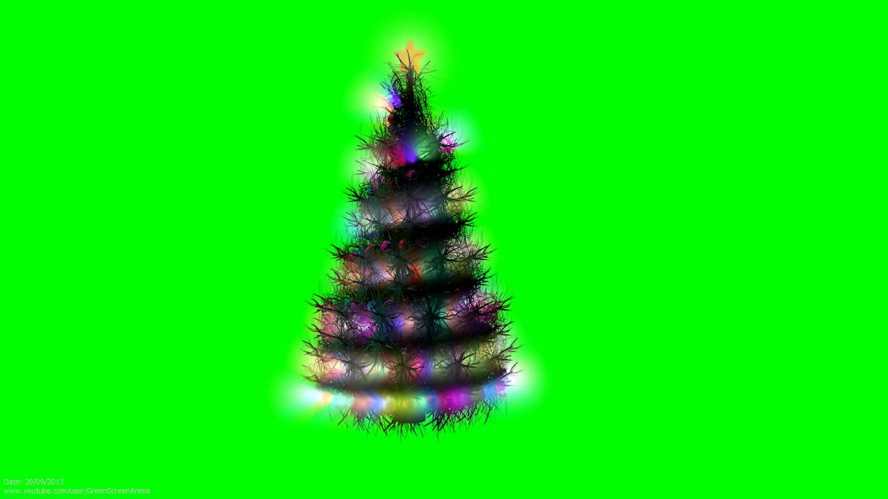 Christmas Tree 3d Animation 1080p S01r01 Green Screen