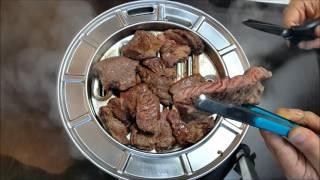안타는 불판 - 스테이크 시연(수냉식, h2o gril…