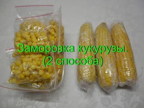 Как сохранить на зиму кукурузу в початках