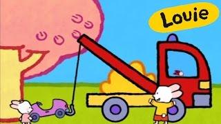 Dibujos animados para niños - Louie dibujame una grúa HD