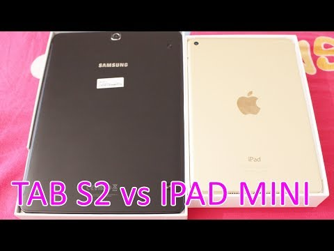 "Apple iPad mini 4 - Wi-Fi - 128 GB - Gold - 7.9"" VS SAMSUNG Galaxy Tab S2 9.7"" Tablet - review"