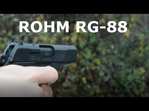 Blank/Prop Gun Review+Shooting ROHM RG-88
