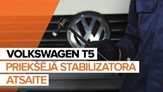 Kā nomainīt Savienotājstienis VW MULTIVAN V (7HM, 7HN, 7HF, 7EF, 7EM, 7EN) - video ceļvedis