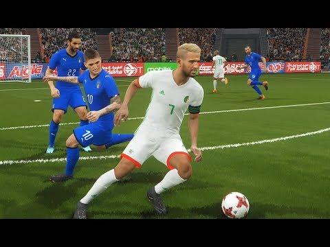 Algérie Nouveaux Maillots PES 2018 - Algérie vs Italie Gameplay PC