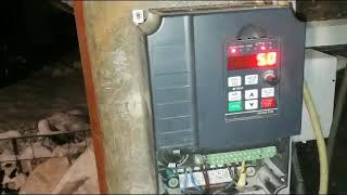 Обзор частотного преобразователя  в работе с двигателем 4 кВт