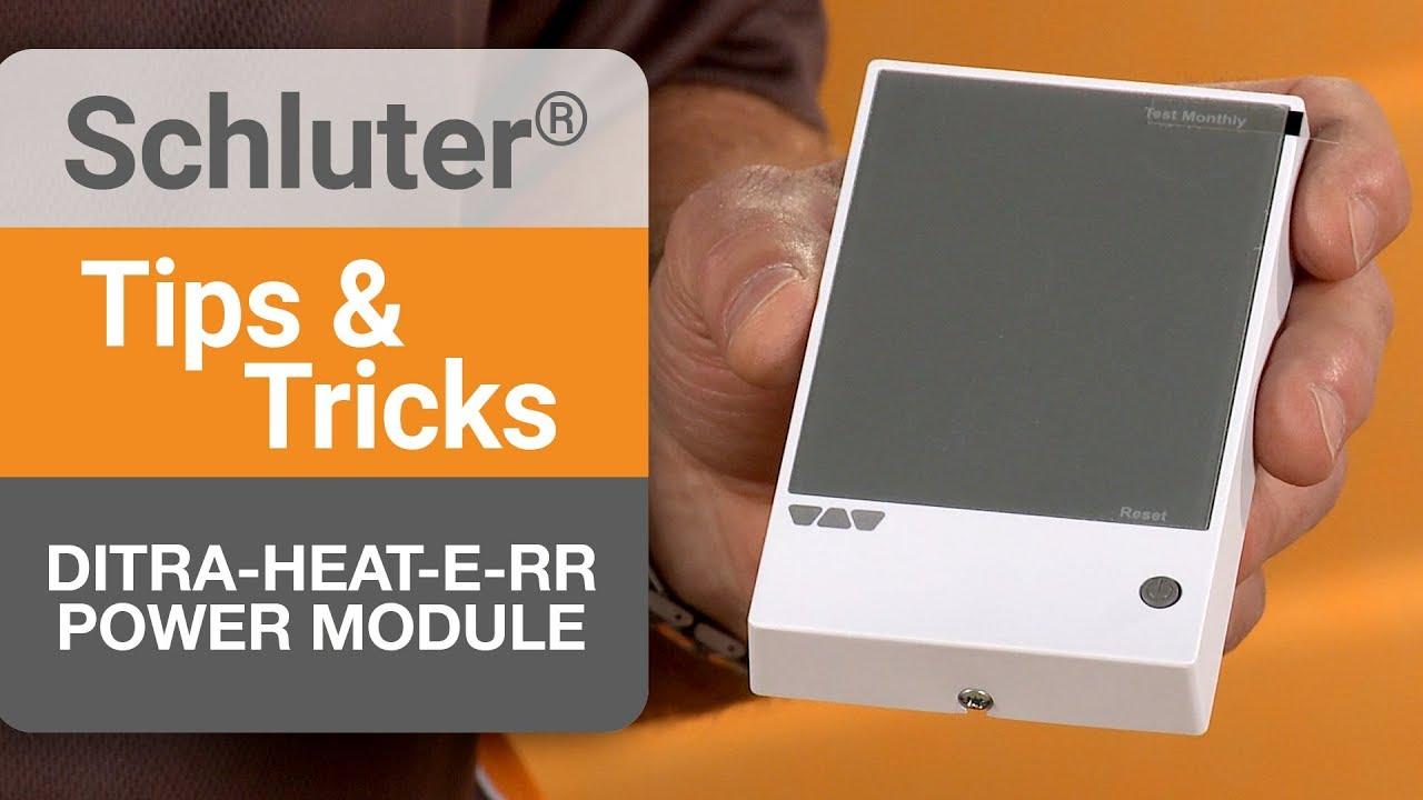 Tips on the DITRA-HEAT-E-RR Power Module Ditra Heat V Wiring Diagram on