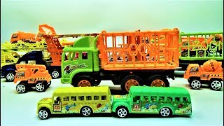 Kids chanel - How to assemble the super school bus with zoo truck | video for kids