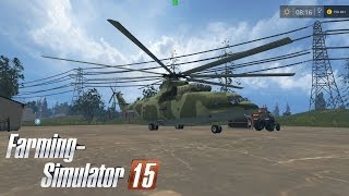 Обзор карты Курай с вертолета Ми-26#Farming Simulator 15