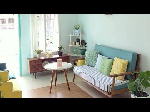 dekorasi ruang tamu sempit || part 2 - youtube